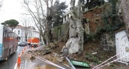 Beykoz'da bir istinat duvarı çöktü!..