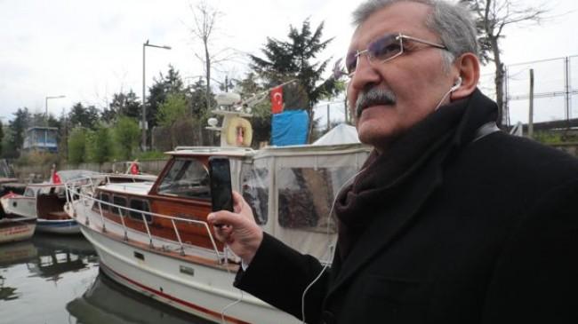 Murat Aydın, tekneye binip canlı yayın yaptı!..