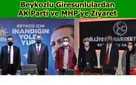 Beykozlu Giresunlulardan AK Parti ve MHP'ye Ziyaret!..