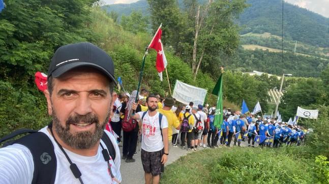 """Dilmaç; Bosna'da """"Barış Yürüyüşüne"""" Katıldı!.."""