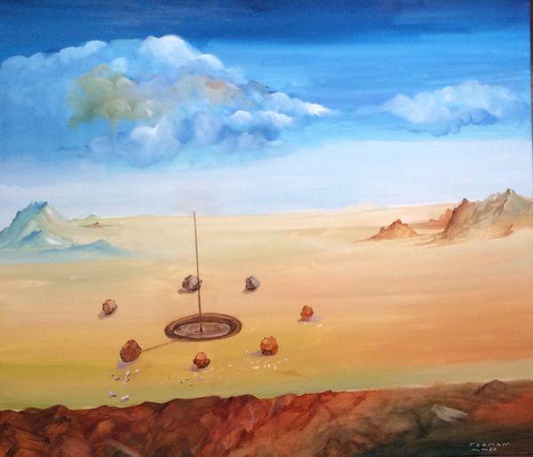 TEOMAN SÜDOR Dünyanın Milyon Taşları (Sıfır Taşları)TÜYB 70x80 cm