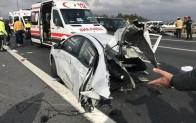 Beykoz TEM Otoyolunda feci kaza: 1 ölü, 2 ağır yaralı