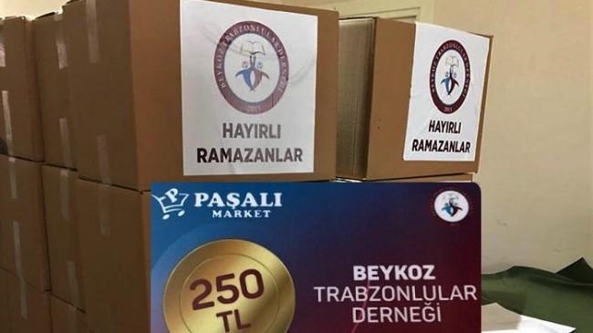 Beykozlu Trabzonlulardan 160 haneye ramazan desteği!…