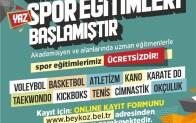 Beykoz'da Yaz Spor Eğitimleri Başlıyor!..